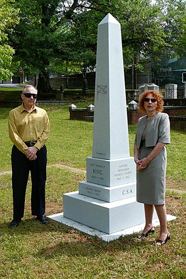 John Cobb & Deborah Petite Capt. Thomas E. King Monument Roswell Presbyterian Church Cemetery