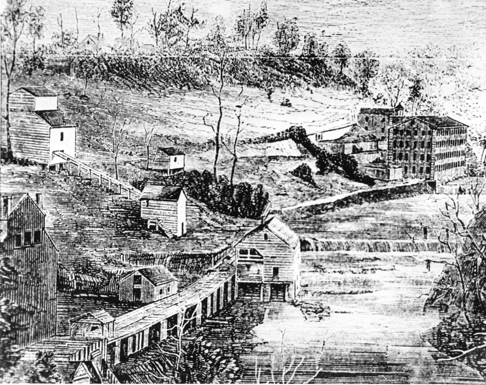 Roswell Cotton Mills circa 1853, Roswell, Georgia