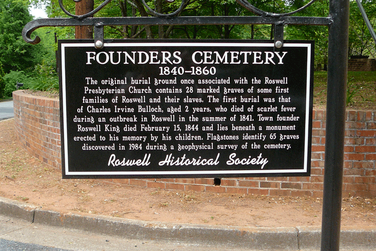 Founders Cemetery Sign