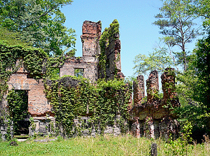 Sweetwater Factory Mill Ruins, New Manchester, Georgia